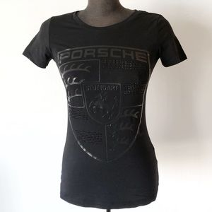 Porsche Studded Black Crest Tee Driver's Selection